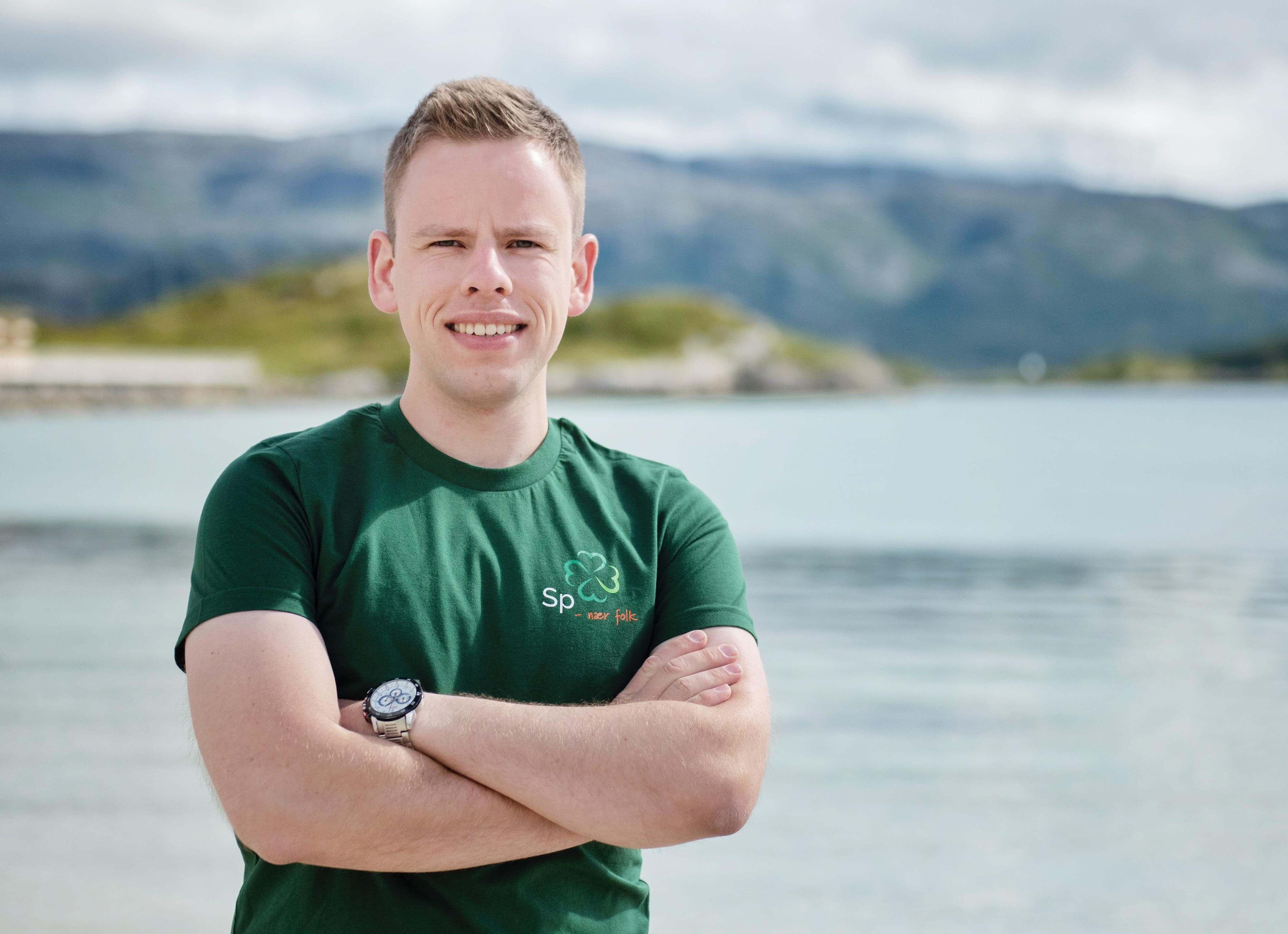 Skjalg Hamnes, Stortingskandidat Nordland Senterparti, Sentralstyremedlem Senterungdommen. Foto: Eirill DeLong