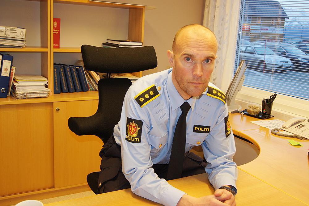 Lensmann Jim Kristiansen sier at leteaksjonen etter den savnede har vært utfordrende. Foto: arkiv.